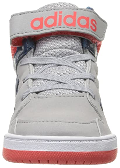 info for 2fbe3 4d71a Amazon.com   adidas NEO BB9TIS Mid INF Shoe (Toddler), Clear Onix Grey Ash  Grey Blue Bright Red, 4 M US Toddler   Boots
