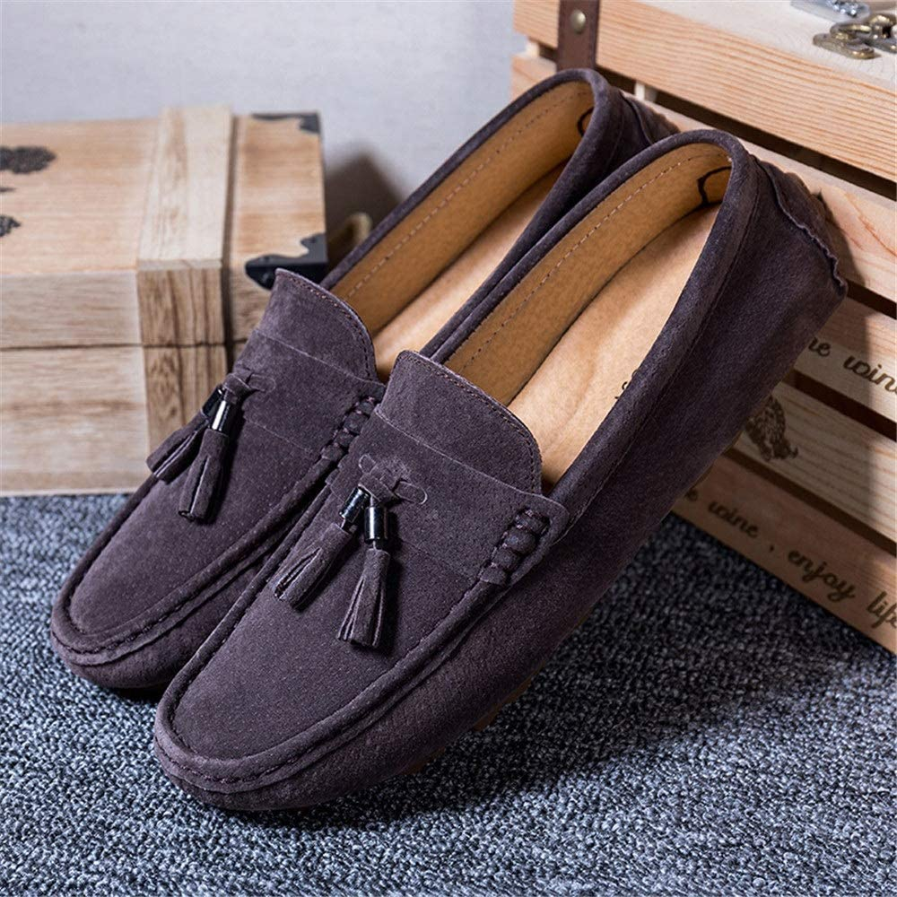 MXL Mens Drive Loafers for Casual Suede British Tassel Fashion Breathable Boat Moccasins