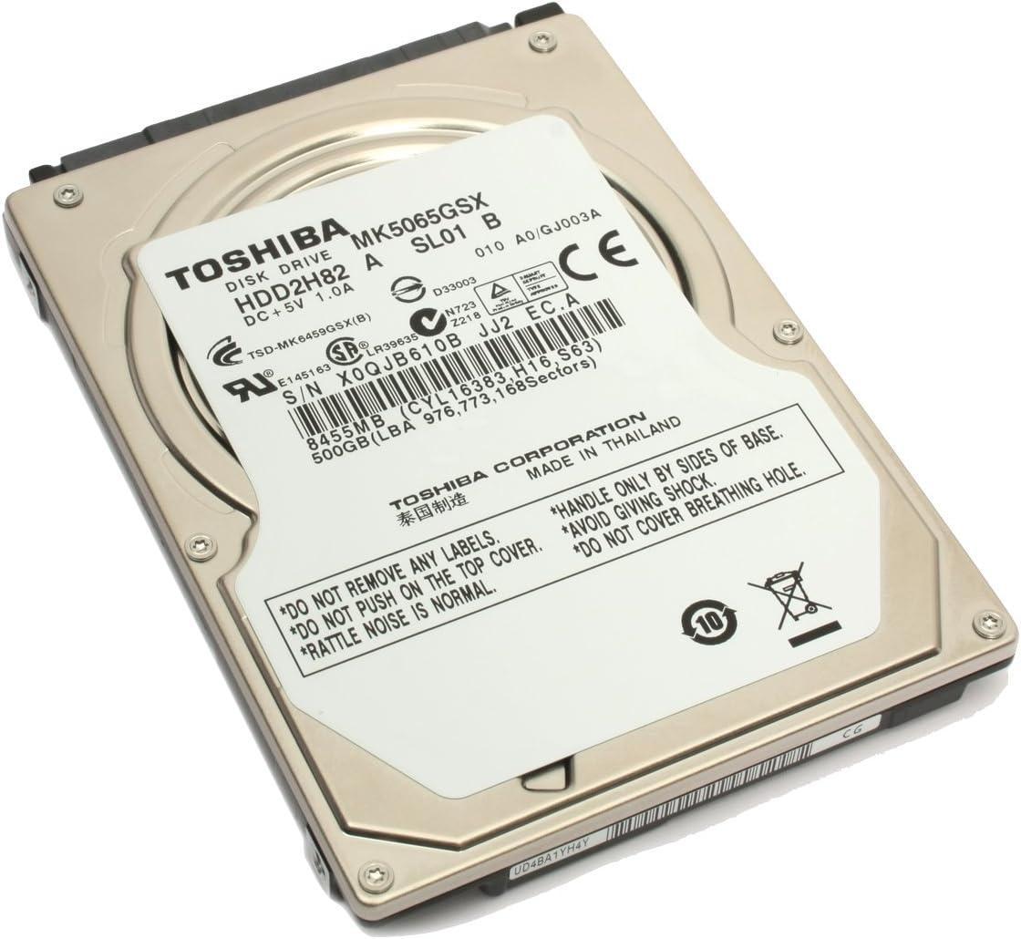 Toshiba MK5065GSX - Disco Duro Interno de 500 GB (5400 RPM, 6,3 cm ...