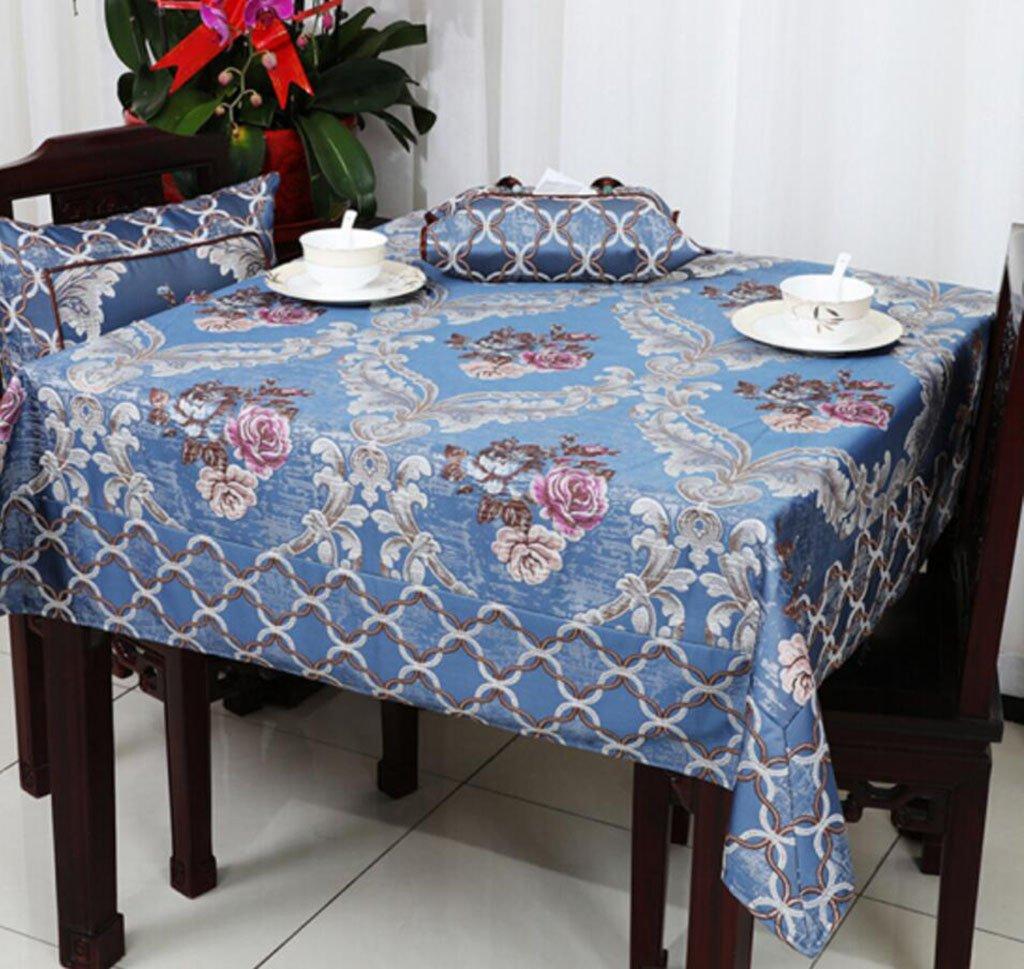 Tischtuch Europäische Luxus dicken Tischdecke Tischdecke Tee Tischdecke Runde Tischdecke Jacquard 90  90 cm-150  220 cm Tischsets (Farbe   A2, größe   150  220cm) A3 110110cm