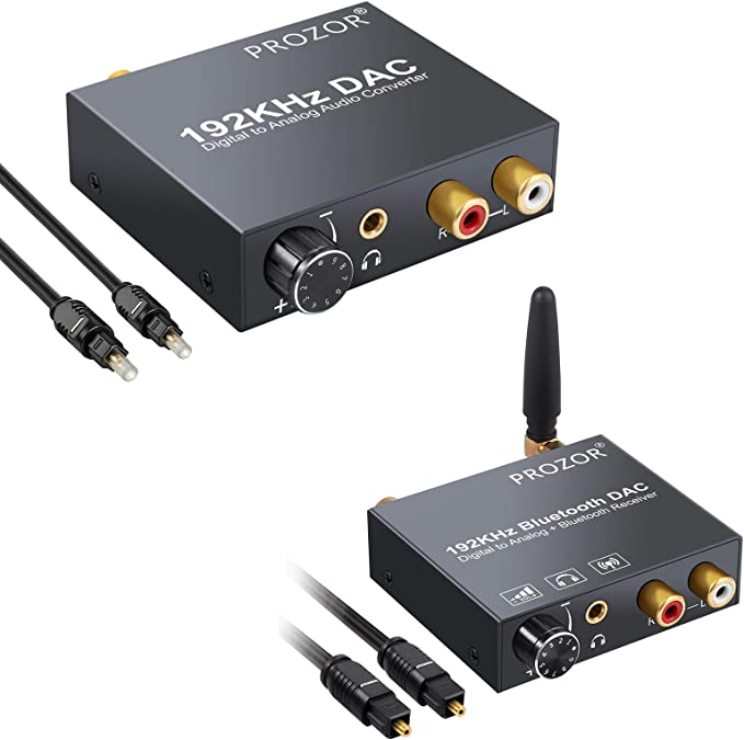 Amazon.com: PROZOR Digital to Analog Converter 192kHz + 192kHz Digital to Analog Audio Converter: Electronics