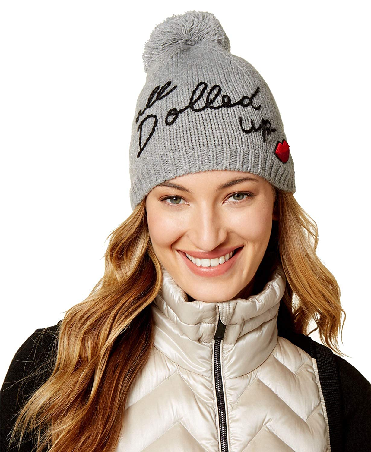 Amazon.com  Kate Spade New York All Dolled Up Beanie with Pom  Clothing d6e63309ab1