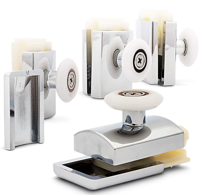 Shower Wheels Shower Rollers Shower Door Runners 23mm Shower Door Roller Shower Enclosure Runners M01C 4pcs Rolli