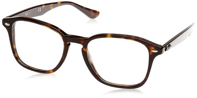 1049a7be8e9 Amazon.com  Ray-Ban Unisex RX5352 Eyeglasses Havana 50mm  Clothing