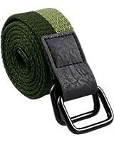 Samtree Canvas Belts for Men,D Ring Buckle Adjustable Military Style Leather Web Belt