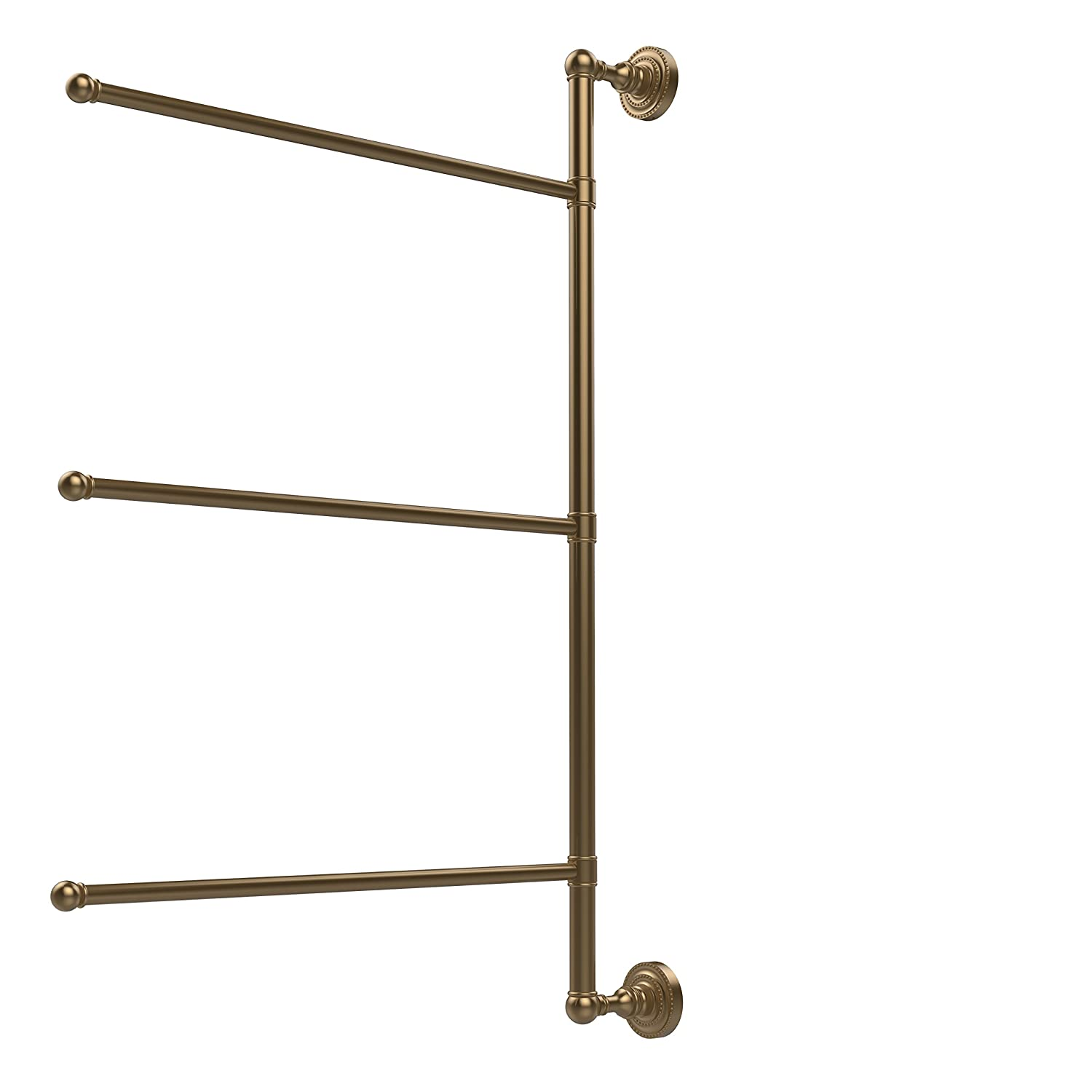 Allied Brass DT-27//3//16//28-ORB Dottingham Collection 3 Swing Arm Vertical 28 Inch Towel Bar 28 Oil Rubbed Bronze