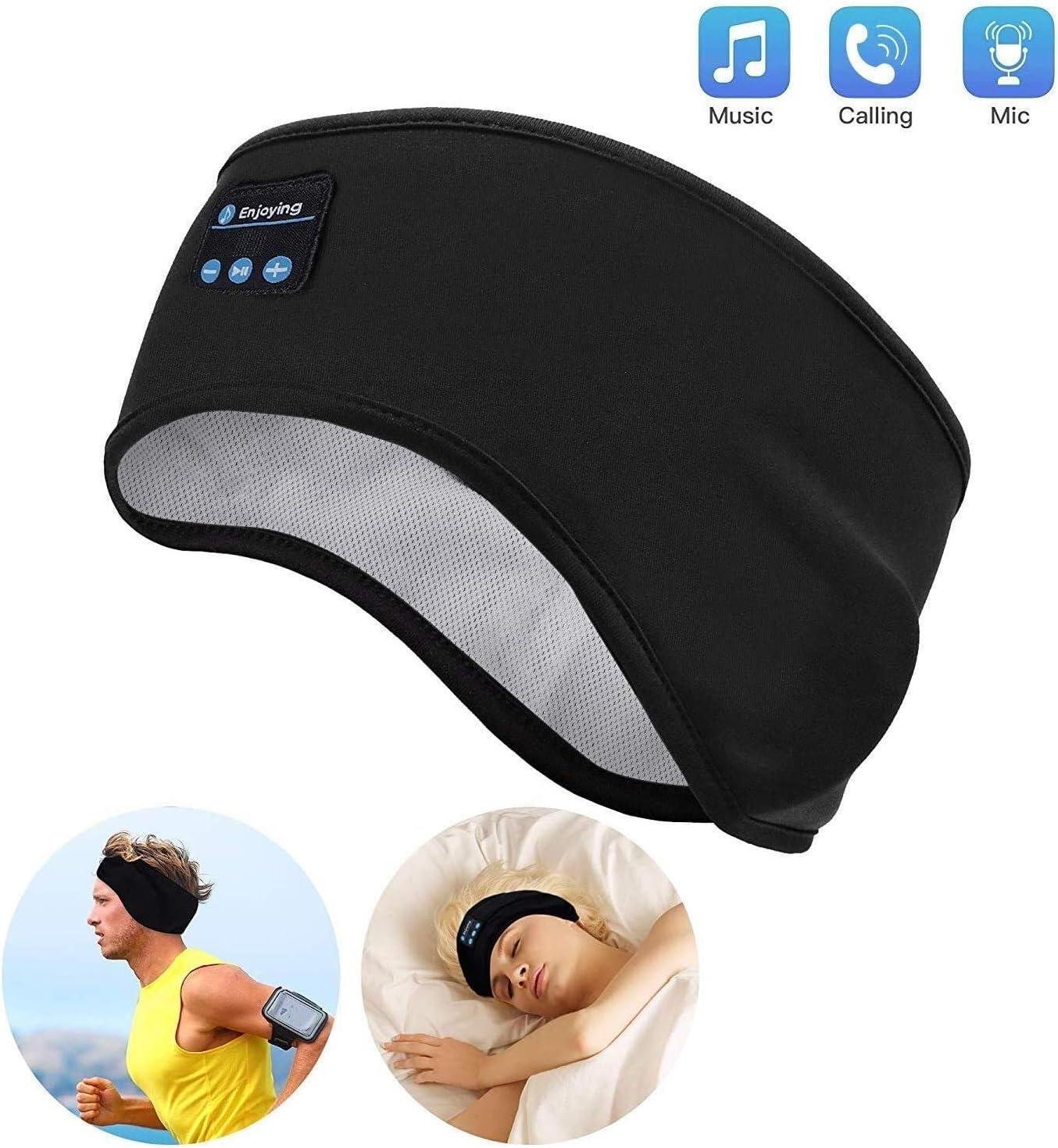 Auriculares para Dormir - Navly Bluetooth V5.0 Deportes Diadema | Deportiva Banda Auriculares con Ultrafinos HD Estéreo Altavoces,Perfectos para Deportes, Dormir de Lado, Viajes Aéreos y Relajación