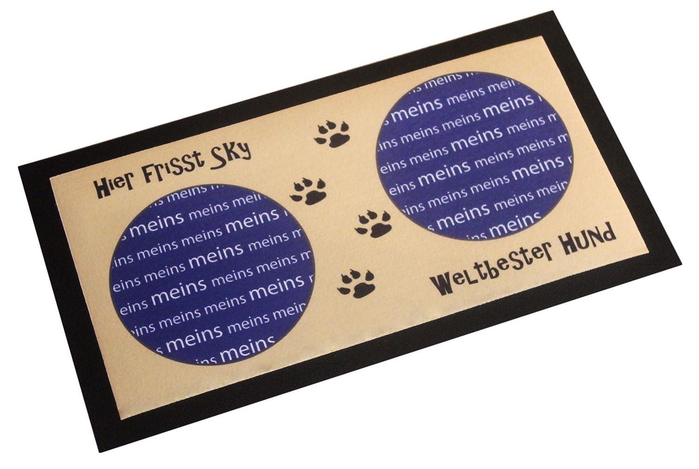 Napfunterlage mit Name Fressunterlage für Hunde