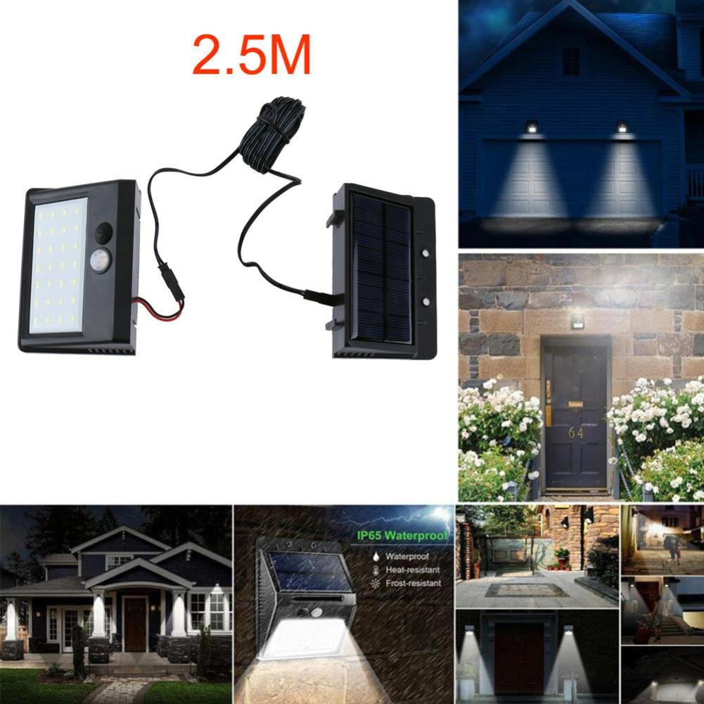 EnjoCho Solar Powered Light, Separable 28 LED Solar Powered Light Motion Sensor Outdoor Garden Security Lamp Waterproof (Black)