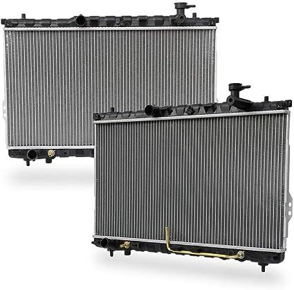 Radiator for Hyundai Replacement Radiator fit 2001-2006 Santa L4//V6 2.4//2.7L