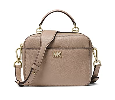 b6a8fef999a6 MICHAEL MICHAEL KORS Mott Mini Pebbled Leather Crossbody (Truffle):  Handbags: Amazon.com
