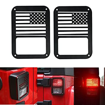 Attractive Tail Light Cover 2 Pcs American Flag Tail Light Covers Trim Guards  Protector Rear Lamp