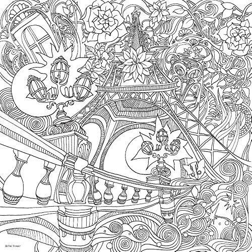 Fantastic Cities Coloring Book Download : The magical city: a colouring book books
