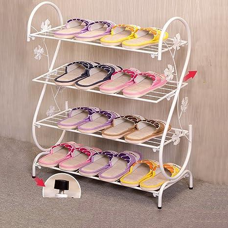 Estante del zapato estante de zapato casero simple estante de zapato minimalista de múltiples capas arte