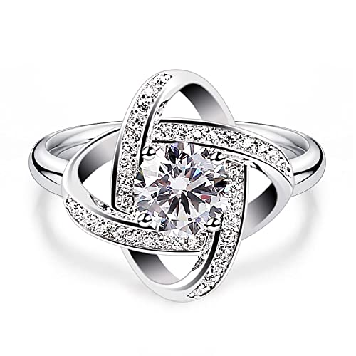 fa3e2ce86 B.Catcher Rings for Women 925 Sterling Silver Elegant Cubic Zirconia Gemini  Rings Jewelry Gifts: Amazon.ca: Jewelry