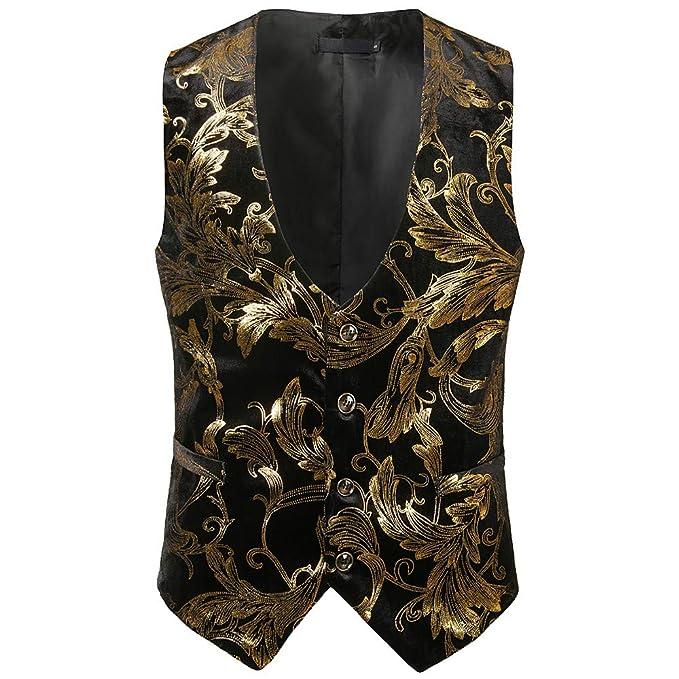 Keliay Bargain Mens Fashion Formal Business Casual Gold ...
