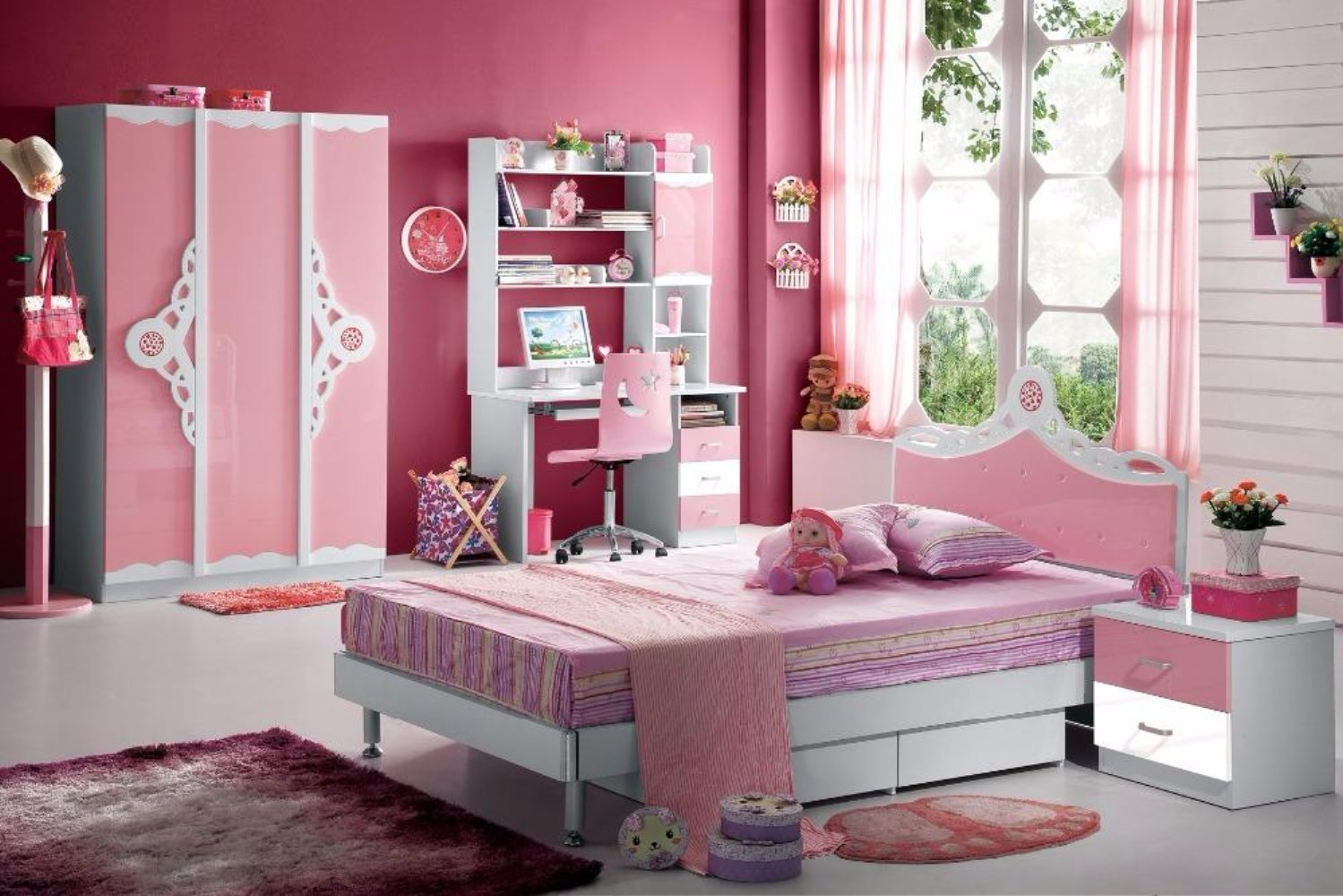 My Aashis Kids Room Furniture Set Contemporary Design – Pink Theme