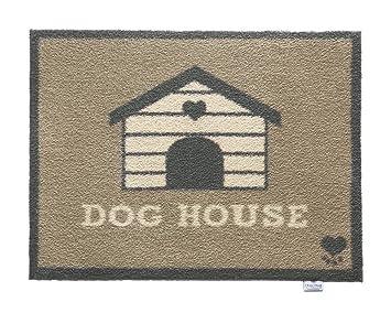 Hug Rug - Felpudo para interiores respetuoso con el medio ambiente, muy absorbente, dibujo de caseta de perro, 65 x 85 cm: Amazon.es: Hogar