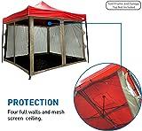 Screen Room attaches to any 10u0027x10u0027 Pop Up Screen Tent Room u2013 4  sc 1 st  Amazon.com & Amazon.com: Coleman Instant Screenhouse 10 x 10 Feet: Sports ...