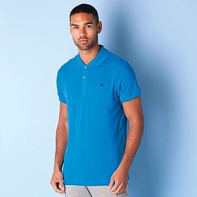 f294e2d0 adidas Originals Mens Mens Trefoil Pique Polo Shirt in Blue - XL ...