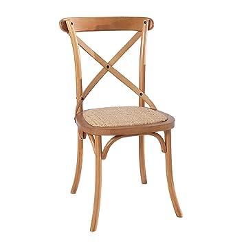 Esszimmer Stuhl LE CHALET Handarbeit Eiche Rustikal Esszimmerstuhl  Rattanstuhl Küchenstuhl Landhaus Vintage Möbel Rattan
