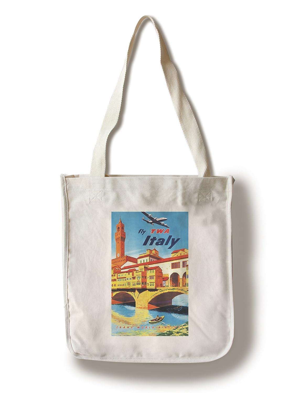 Twa – イタリアヴィンテージポスター(アーティスト: Lacano、フランク) C。1951 Canvas Tote Bag LANT-64876-TT B01841TZW0  Canvas Tote Bag