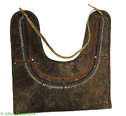 7b7c03e867e Image Unavailable. Image not available for. Color  Maasai Olbene Beaded Leather  Bag ...