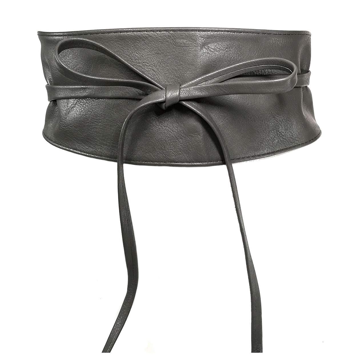 MYB Cintura fusciacca per donna in similpelle modello obi taglia unica diversi colori disponibili