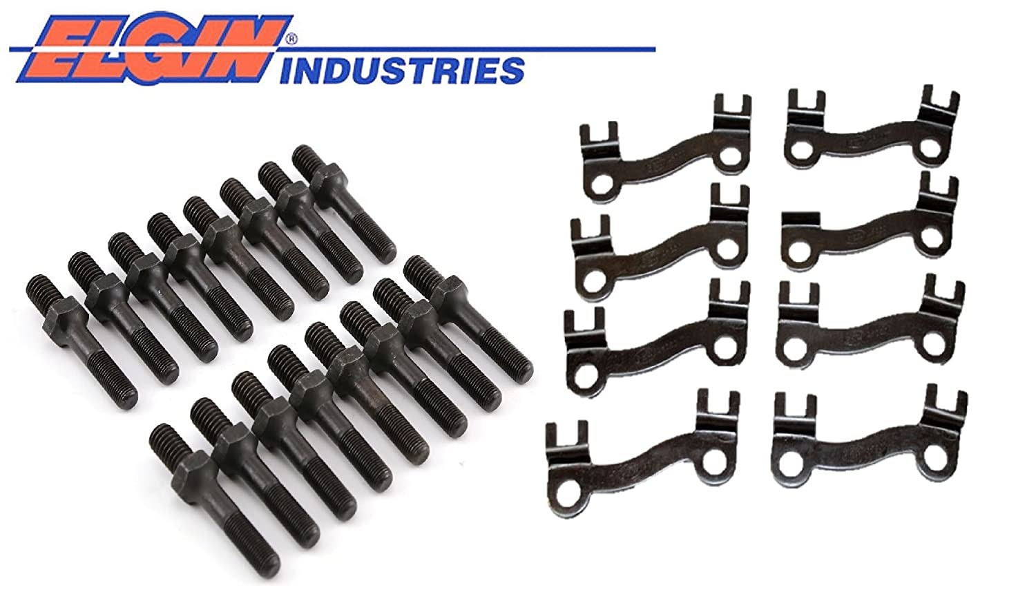 Guide Plates For 3//8 Pushrods /& Rocker Arm Studs for bb Chevy 396 402 427 454 3//8 BBC