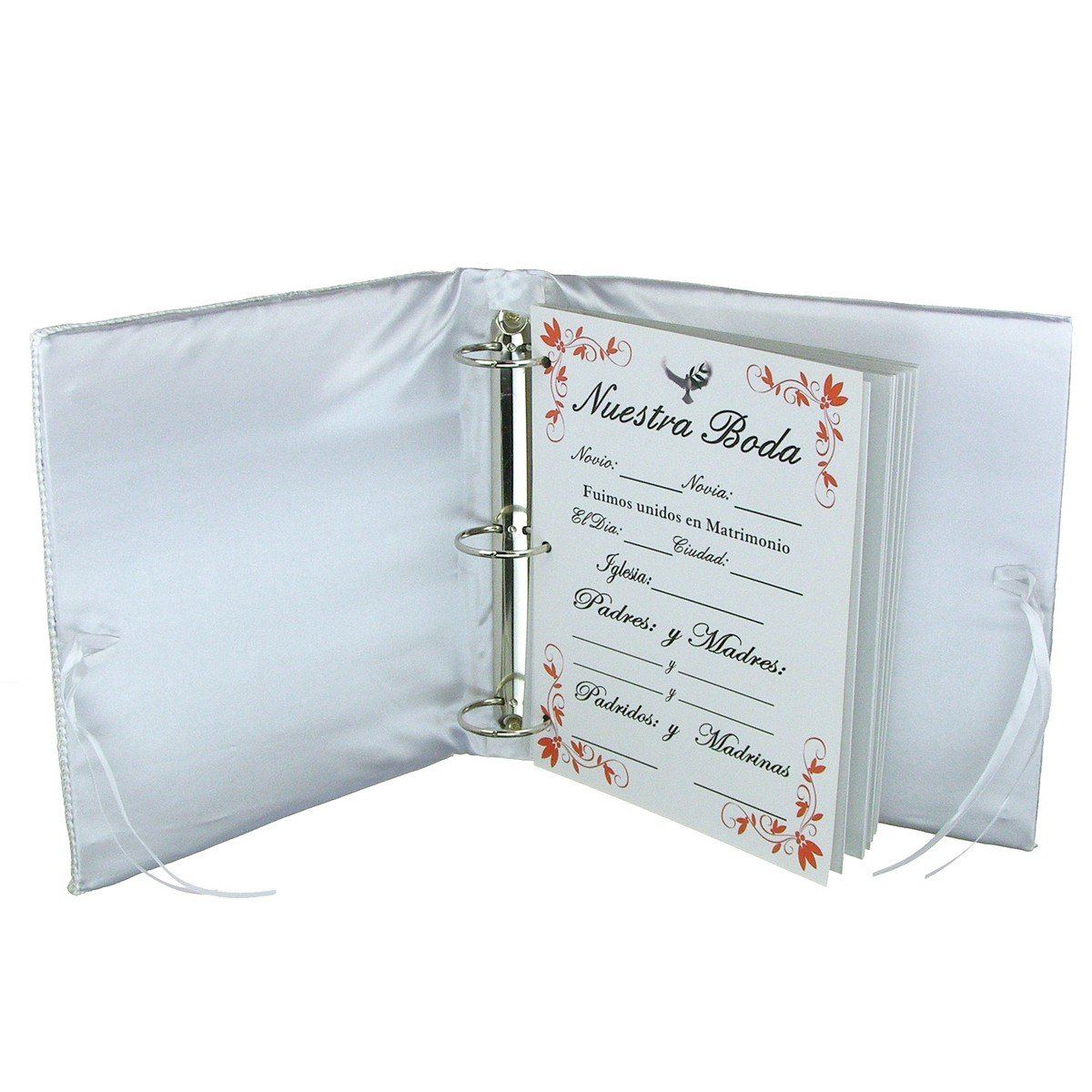 Amazon.com: Spanish Wedding Decorative Album - Silver Tone Metallic ...
