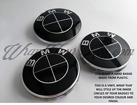 COMPLETO NEGRO COMPLETO GLOSS BMW Emblema Emblema Embellecedor HOOD TRUNK RIMS @ SE ADAPTA A TODA