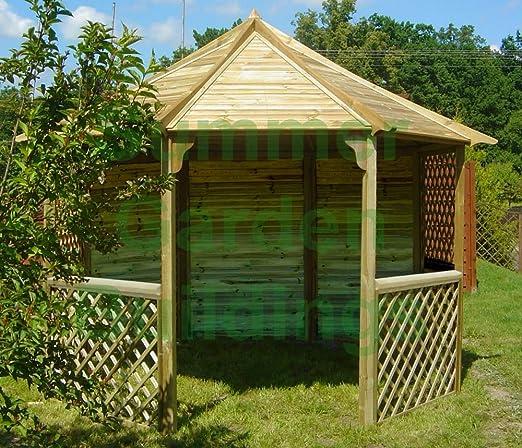 Jardín de verano edificios 10 x 10 - madera tratada GAZEBO ...