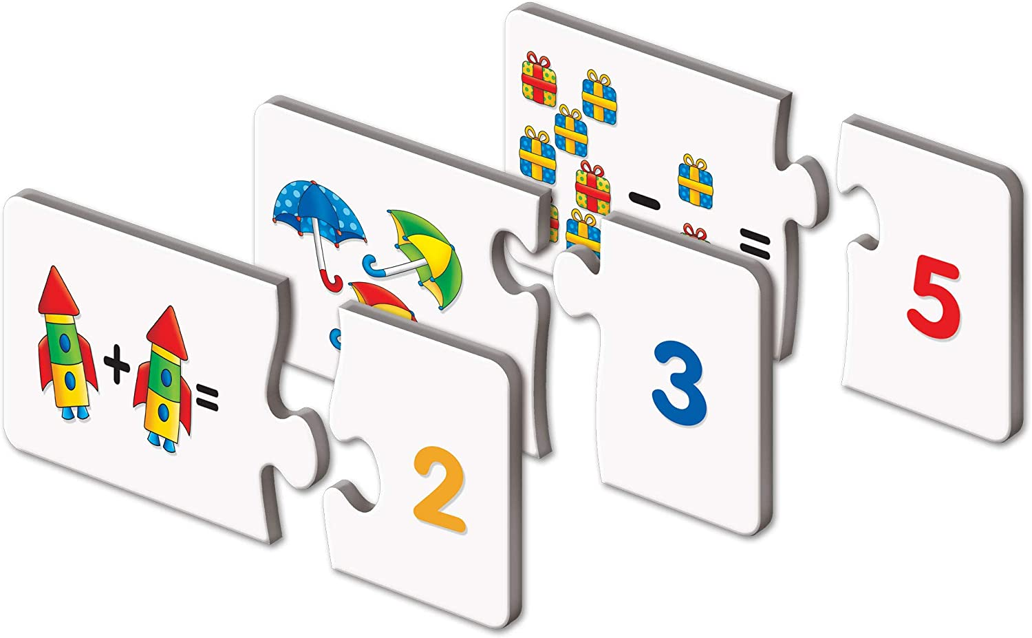The Learning Journey Match It! Mathematics - STEM Addition and Subtraction Game - Helps to Teach Early Math Facts with 30 Matching Pairs Preschool Games