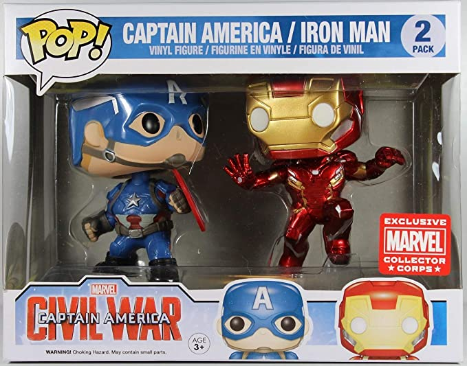 FunkoPop! Marvel: Civil War - Captain America vs. Iron Man ...