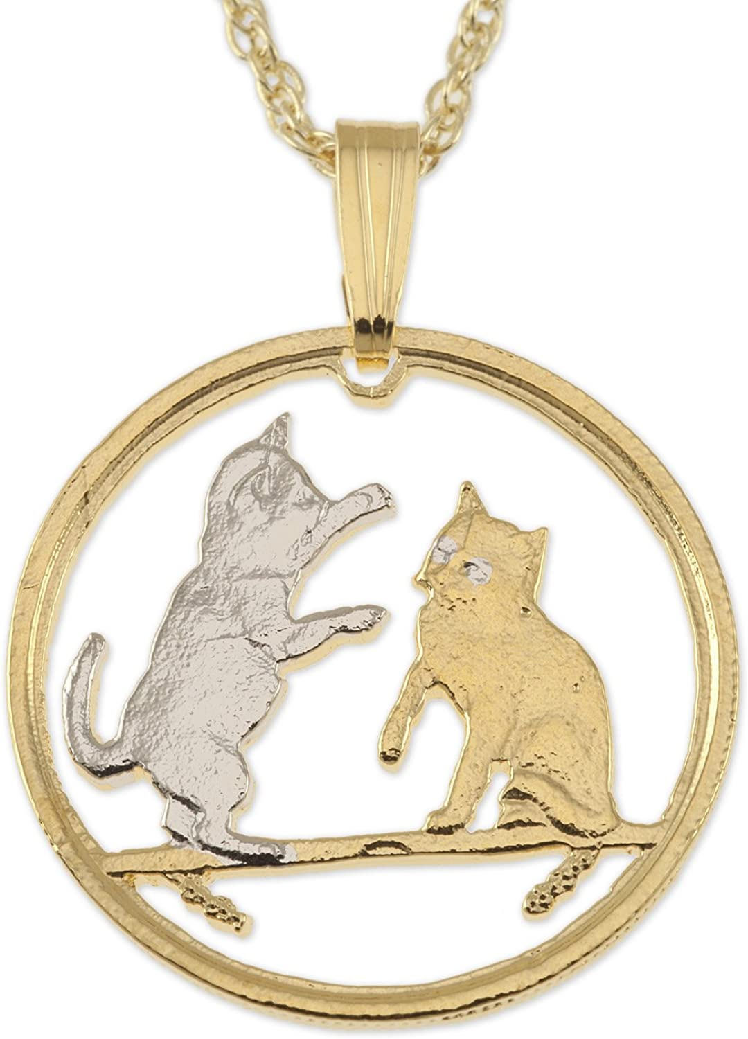 Cat Pendant Necklace 100% quality warranty Isle Coin Super popular specialty store Man Jewelry of