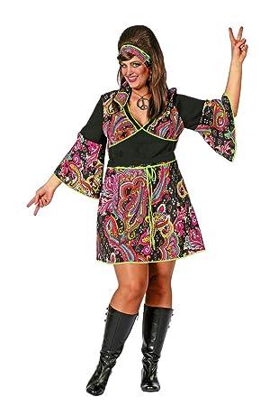 Karneval Fasching Shop Hippie Lady Kostüm Große Größen