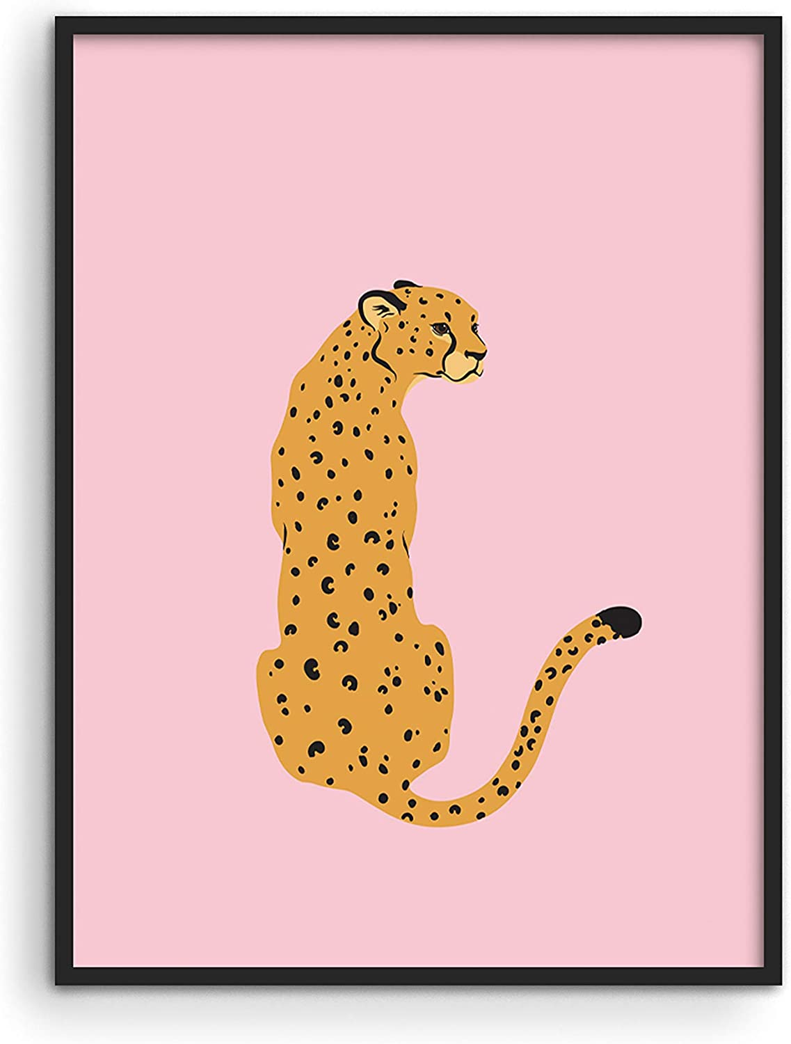 """Cheetah Print Wall Decor Pink Poster - By Haus and Hues 
