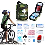 First Aid Kit Outdoor HANDS FREE Hang on Waist get Safe FDA OSHA Small Gift IFAK Kit Compact Medical Survival Emergency for Camping Hiking Backpack Cycling Travel Sports Safety Car Home Workplace