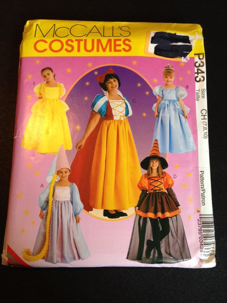 8895 Halloween Rapunzel Cinderella Snow White Witch Belle Disney Princess