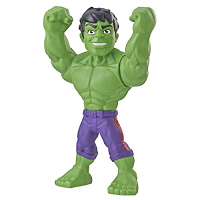 "Playskool Heroes Marvel Super Hero Adventures Mega Mighties Hulk Collectible 10"" Action Figure, Toys for Kids Ages 3 & Up: Toys & Games"