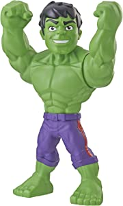 "Playskool Heroes Marvel Super Hero Adventures Mega Mighties Hulk Collectible 10"" Action Figure, Toys for Kids Ages 3 & Up"