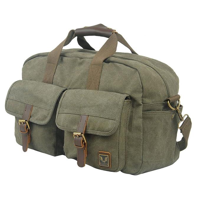 NiSeng Décontracté sac de voyage vintage en toile Facile à plier résistant et léger en week-end sac pour voyage sac en bandoulière ciXpC