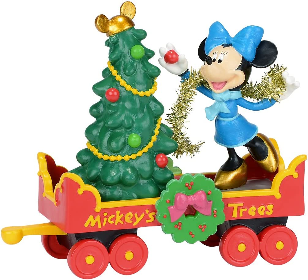 Department 56 Disney Village Mickey s Holiday Tree Car Accessory Figurine, 3.25 inch