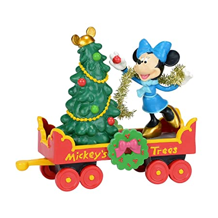 Department 56 Disney Village Mickey s Holiday Tree Car Accessory Figurine, 3.25 inch