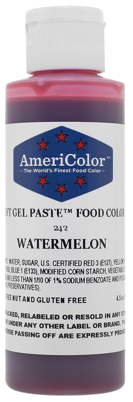 AmeriColor Food Coloring, Watermelon Soft Gel Paste, 4.5 Ounce