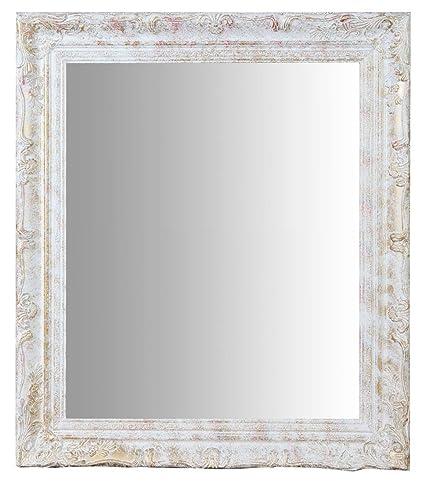 Specchio Specchiera da Parete con Cornice Rettangolare in Legno ...