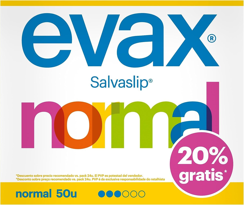 Evax Salvaslip Normal Protegeslips - 50 unidades: Amazon.es: Salud ...