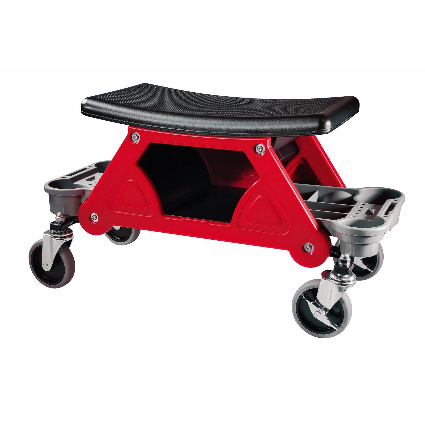 Powerbuilt Heavy Duty Rolling Mechanics Seat Brake Stool 300lb Capacity - 240036 (Stool) by Powerbuilt (Image #3)