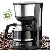 Aigostar Basic Black & White 30HMB–Kaffeemaschine in Weiß Fassungsvermögen: 1,5l. Leistung: 900Watt. Aigostar Qualität. BPA-frei.