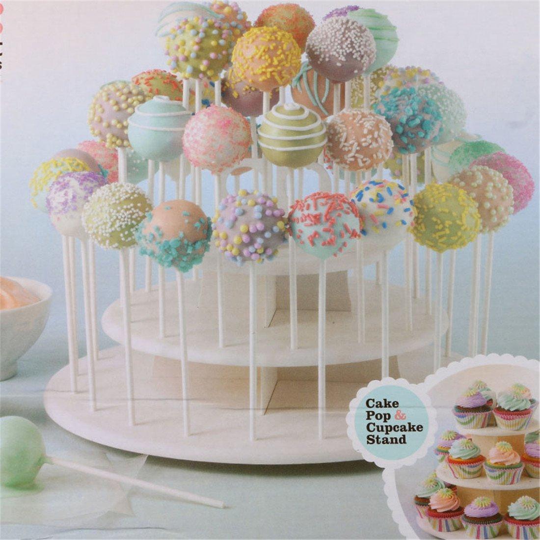 KEHUASHINA 3 Tiers Multifunktions Cupcake St/änder Kuchen Pop steht Lutscher Halter Wei/ß NEU